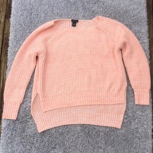 Women's peachy pink sweater large